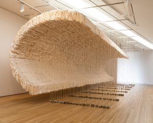 Zhu Jinshi, Wave of Materials, 2007/2020. Installation view, The Allure of Matter: Material Art from China, Wrightwood 659.