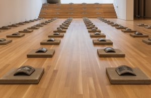 Yin Xiuzhen, Transformation, 1997. Installation view, The Allure of Matter: Material Art from China, Wrightwood 659.
