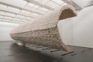 Zhu Jinshi, Wave of Materials, 2007/2020. Installation view, The Allure of Matter: Material Art from China, Los Angeles County Museum of Art, 2019–2020. Photo courtesy of © Museum Associates/LACMA.