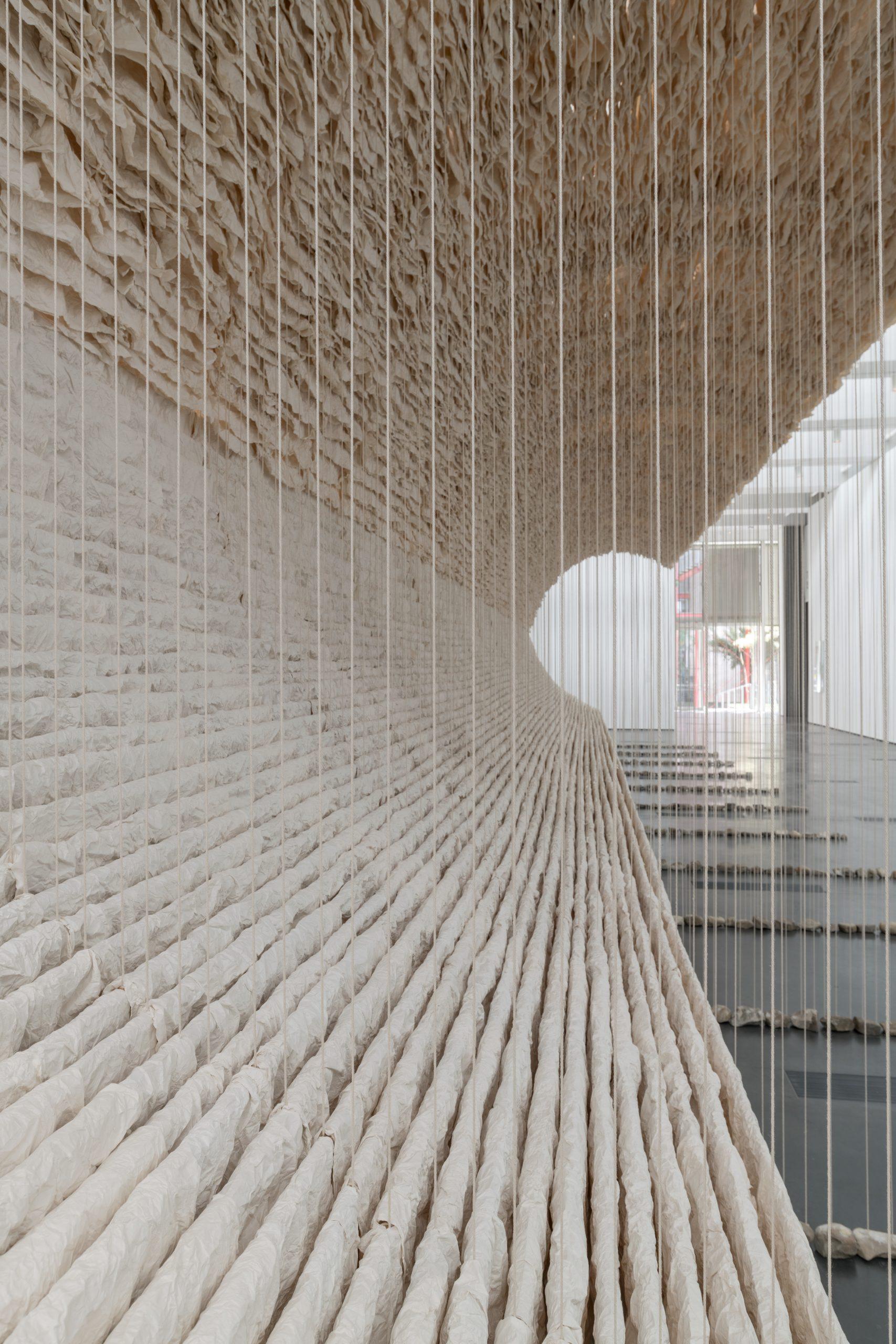 Zhu Jinshi, Wave of Materials, 2007/2020. Detail. Photo courtesy of © Museum Associates/LACMA.