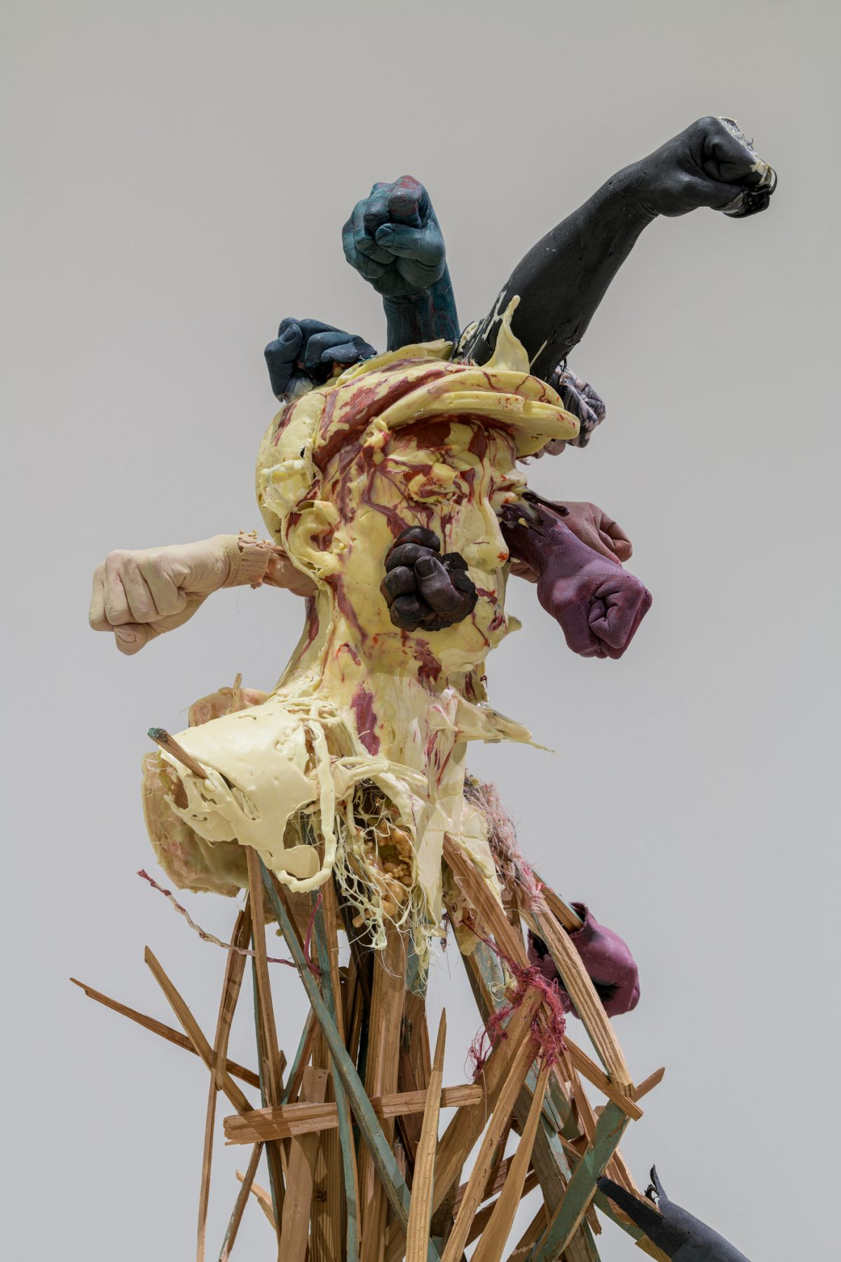 Jin Shan, Mistaken, 2015. Wood and plastic. Detail. Photo courtesy of © Museum Associates/LACMA.