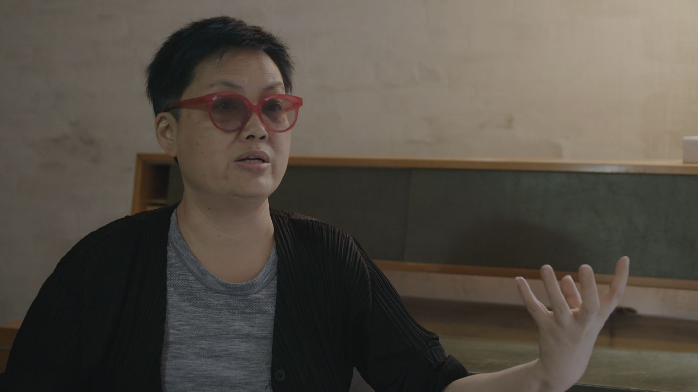 Still from Smart Museum of Art's artist interview with LIN Tianmiao