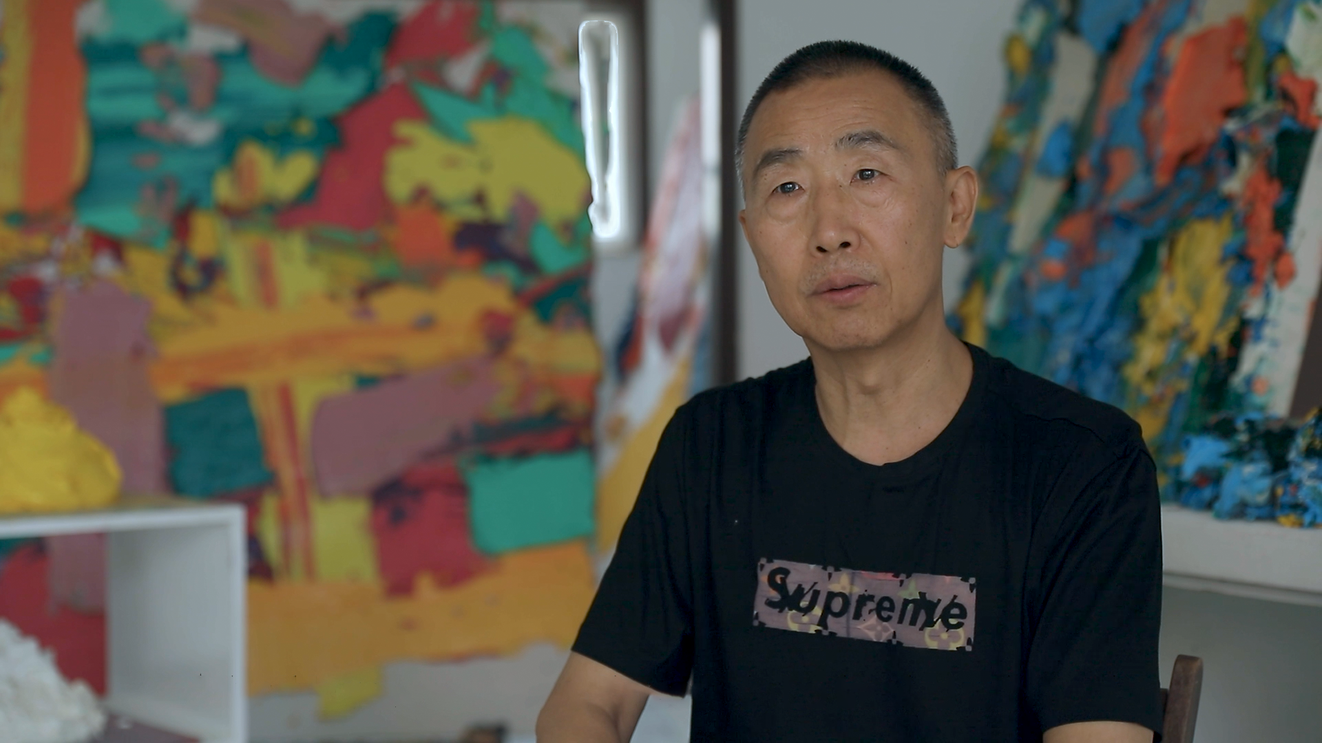 Still from an interview with Zhu Jinshi.