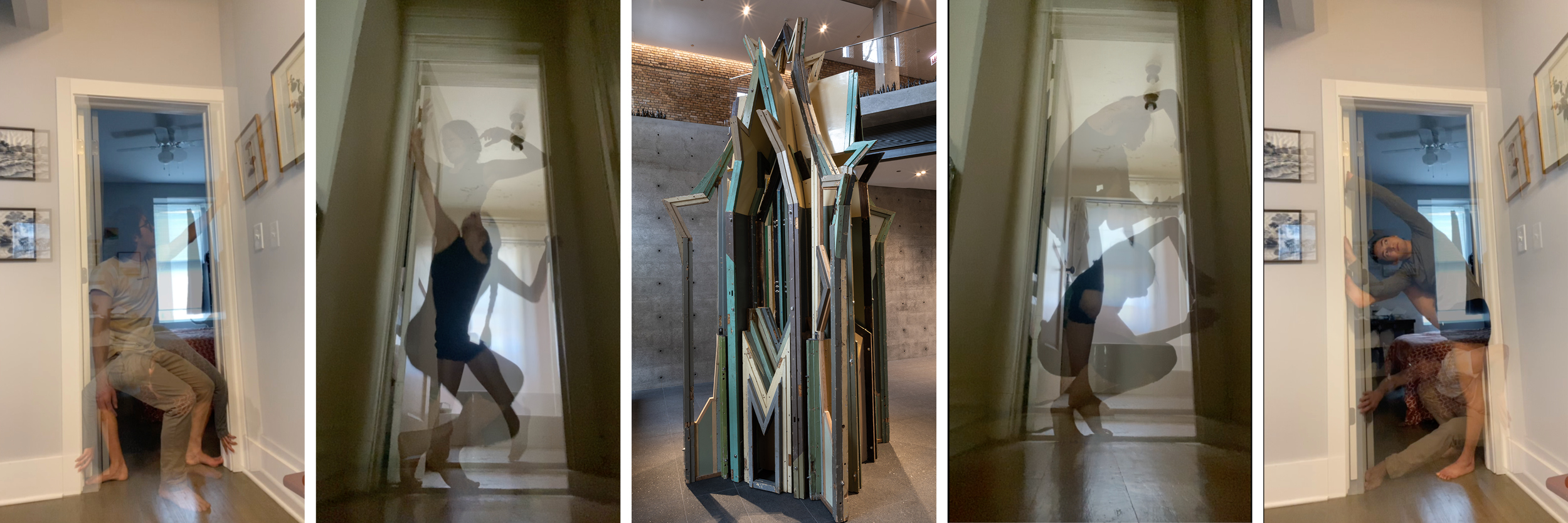 Image collage of movement studies for Merely a Mistake: A Score for Your Door with Liu Wei, Merely a Mistake II No. 7, 2009–11.