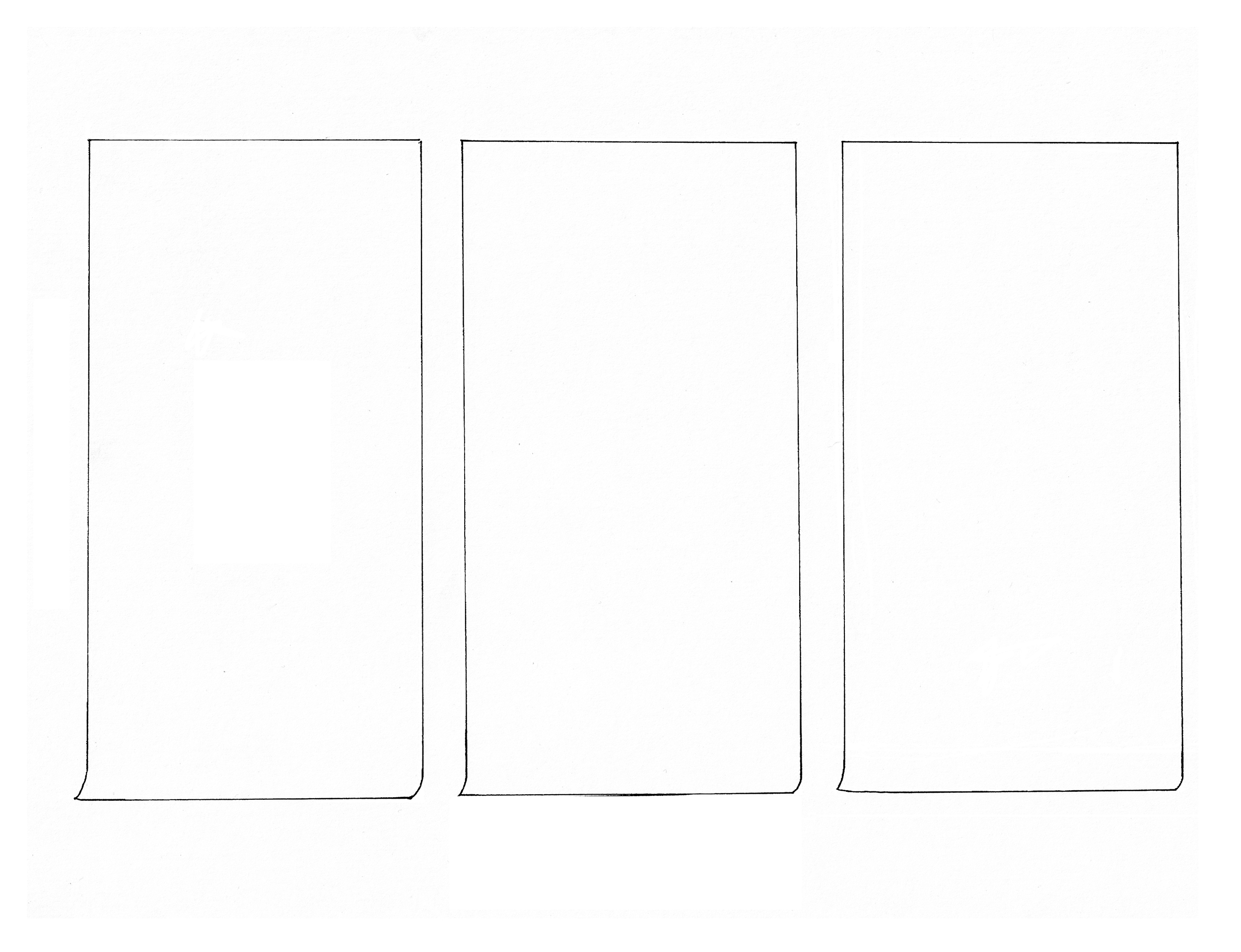 Coloring page inspired by Liu Jianhua, Blank Paper, 2009–2012. Drawn by Erik L. Peterson for the Smart Museum of Art at the University of Chicago.